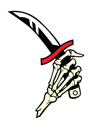 短剣を持つスケルトンの手