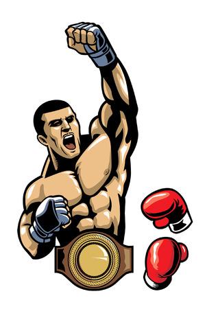 Combattant avec gant et ceinture de ceinture Banque d'images - 92026915