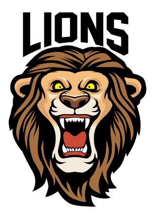 Lion head mascot 向量圖像