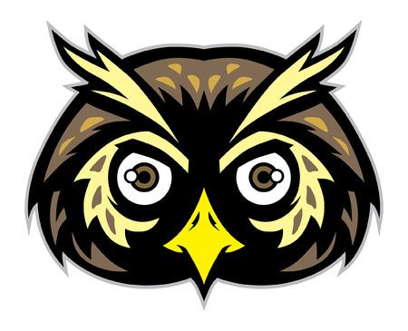 小鳥のマスコットはフクロウの頭