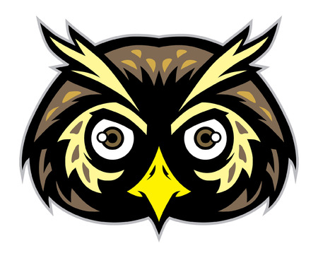Head of owl bird mascot Stok Fotoğraf - 92026836