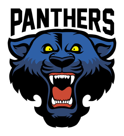 Head of black panther mascot