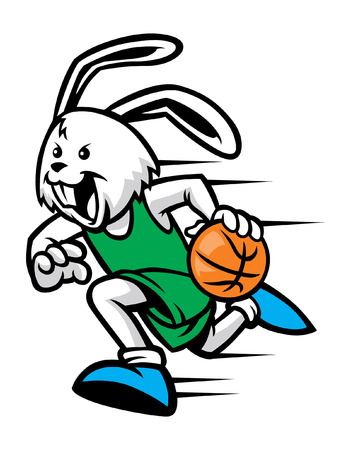 basketball mascot of rabbit