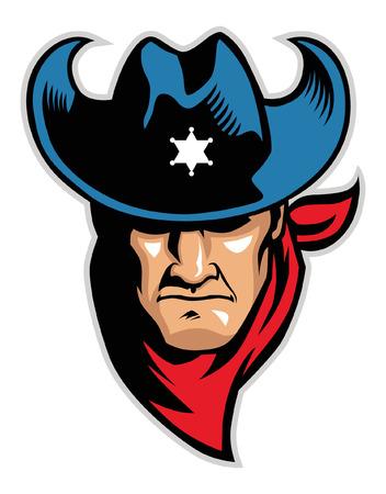head of the cowboy vector illustration.