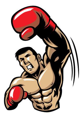 Boxing Man punching the air.