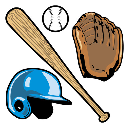 objects of baseball Ilustrace