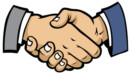 shaking hand Ilustrace