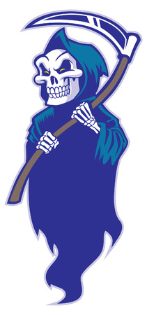 grim reaper with sickle Illustration