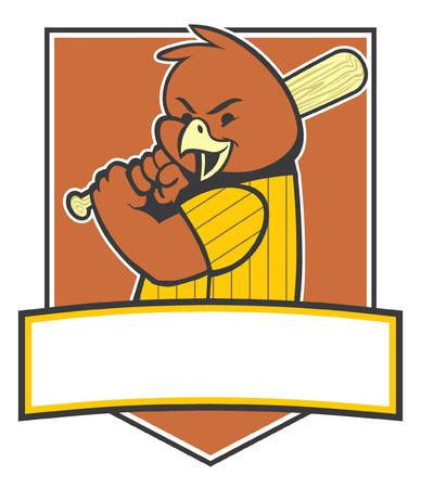 野球のマスコットとしての鳥