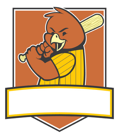 bird as a baseball mascot
