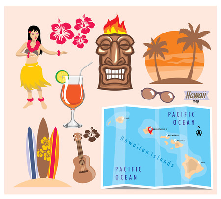 vector collection of beach concept Illustration