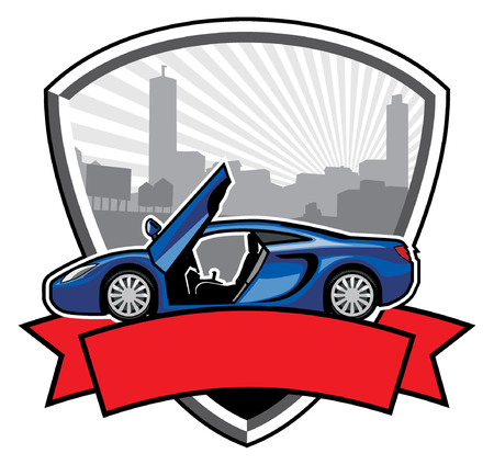 sports car Vector illustration.