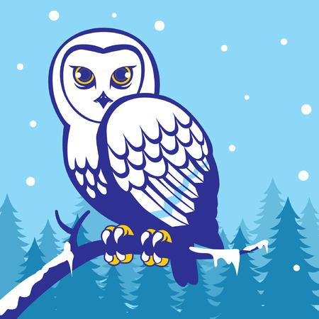 Eigen vogel in het midden van de besneeuwde winter Stockfoto - 92781084