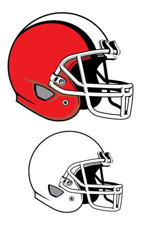 Football helmet illustration. Çizim