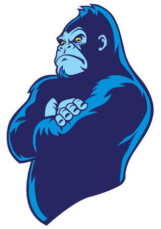 Posa del braccio incrociato gorilla Archivio Fotografico - 92925410