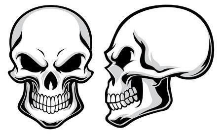 頭蓋骨のセット  イラスト・ベクター素材