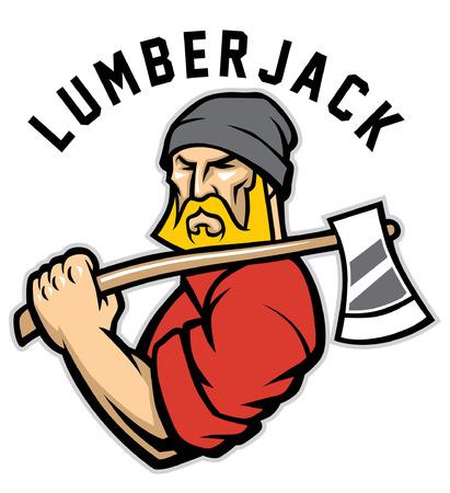 lumberjack mascot Vettoriali