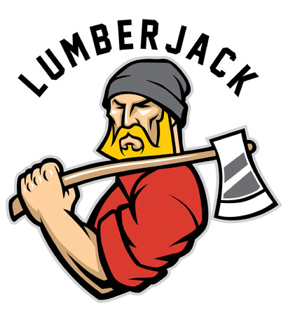 lumberjack mascot Illustration