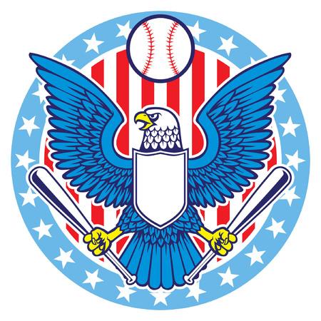 eagle holding baseball bat