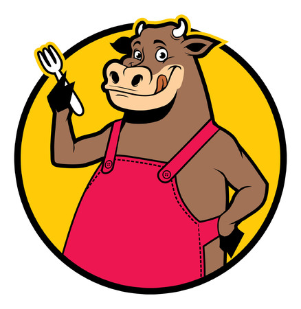 cartoon of bull