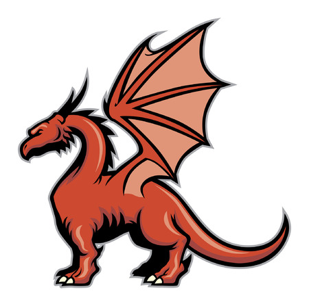 vector of red dragon