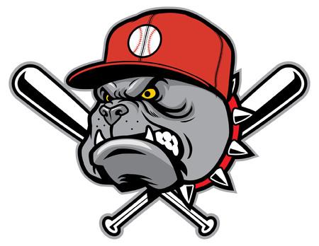 angry bulldog as a baseball mascot