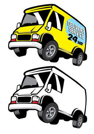 cartoon of van car Illustration