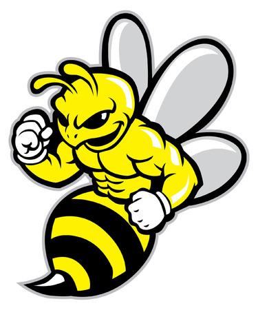 mascot of hornet  イラスト・ベクター素材