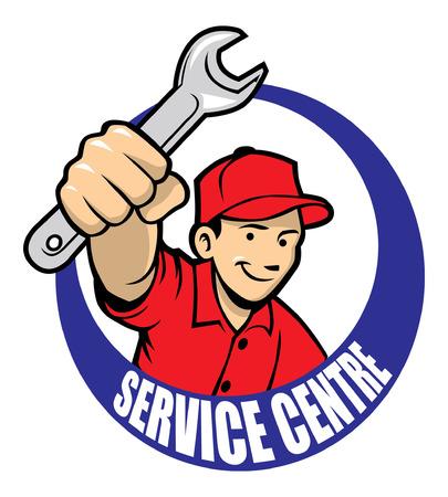 mechanic hold the wrench Reklamní fotografie - 92914469