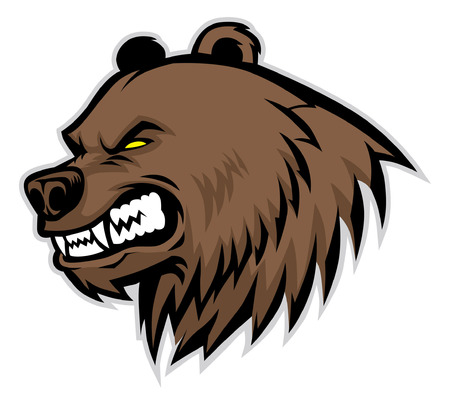 head of angry bear