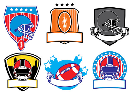 set of american football badge Illustration