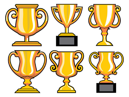 set of trophy Ilustrace
