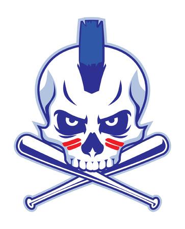 野球の頭蓋骨  イラスト・ベクター素材