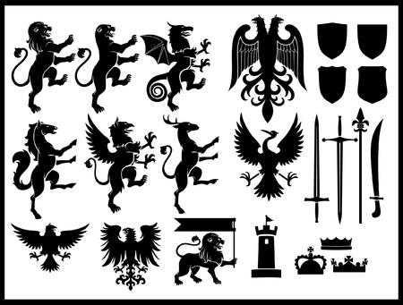 set of heraldry