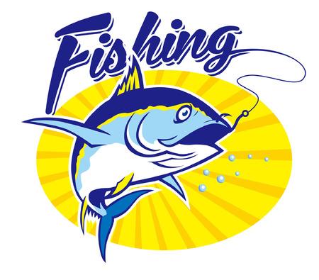 Tonijn vissen conceptontwerp