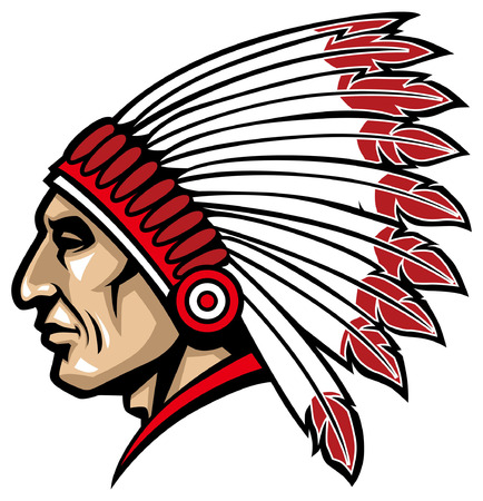 head of indian chief mascot