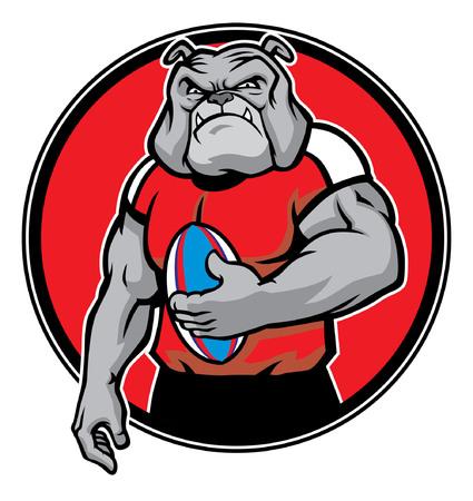 ラグビーチームのブルドッグのマスコット