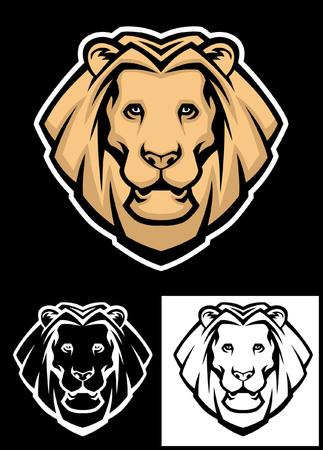 set leeuwenkop mascotte