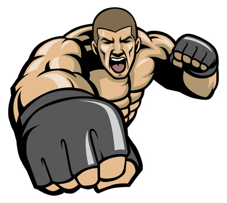 angry of MMA fighter character