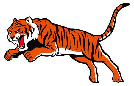 jumping tiger mascot