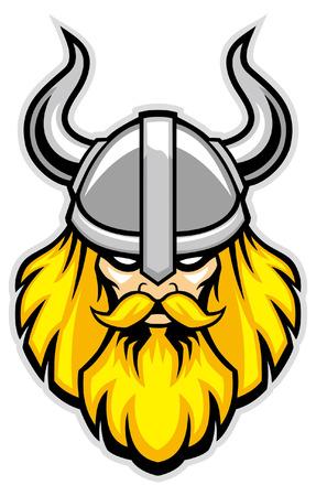 hoofd van viking hoofd Stock Illustratie