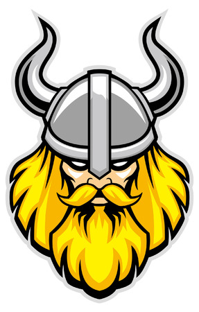 head of viking head Illustration