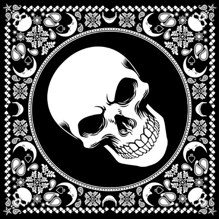 scarf design of skull