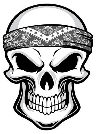 skull wearing head bandana