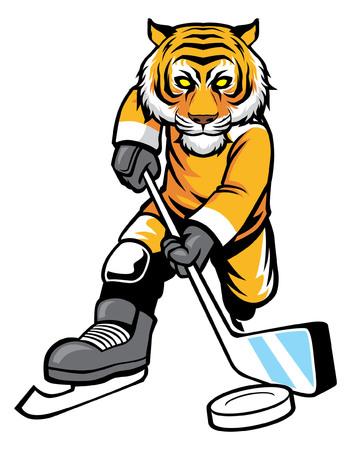 tiger mascot of ice hockey