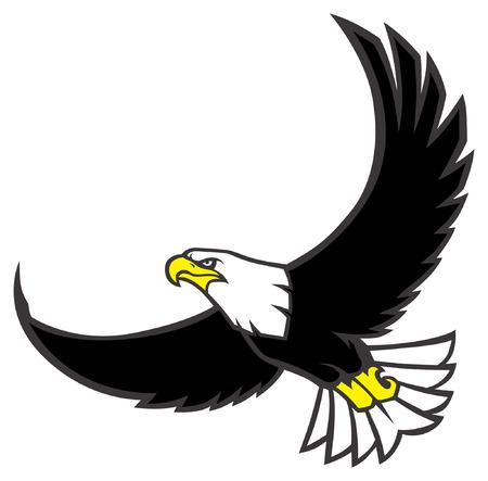 Mascote da águia Foto de archivo - 94682824