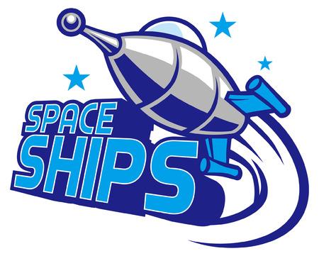space ship mascot