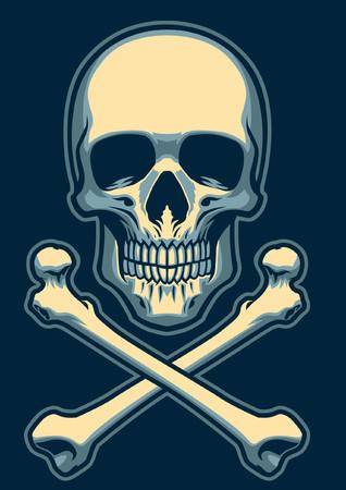 Skull with crossed bones Ilustrace