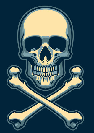 Skull with crossed bones Illustration