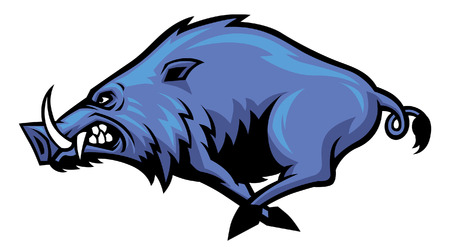 Running wild hog mascot Stok Fotoğraf - 95618804